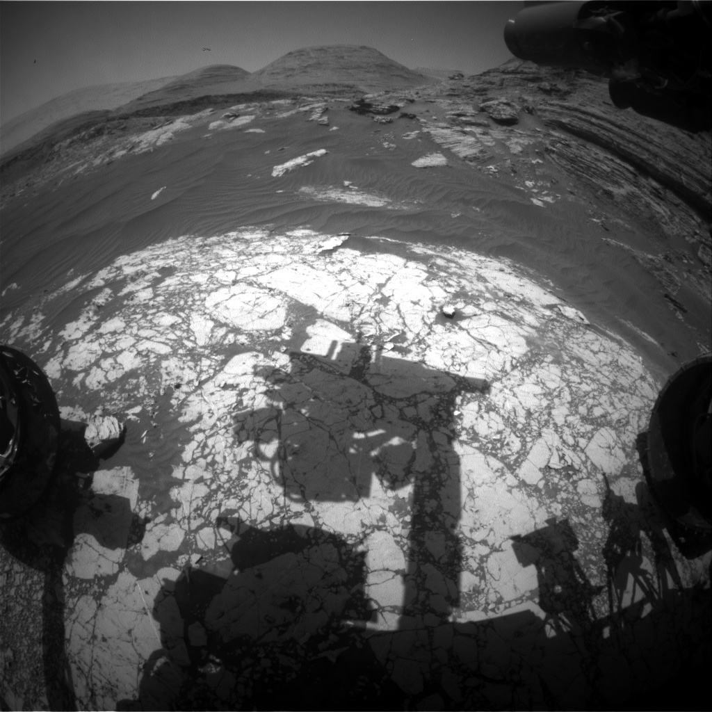 Nasa's Mars rover Curiosity acquired this image using its Front Hazard Avoidance Camera (Front Hazcam) on Sol 3055, at drive 792, site number 87