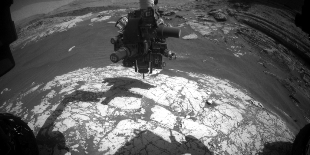Nasa's Mars rover Curiosity acquired this image using its Front Hazard Avoidance Camera (Front Hazcam) on Sol 3056, at drive 792, site number 87