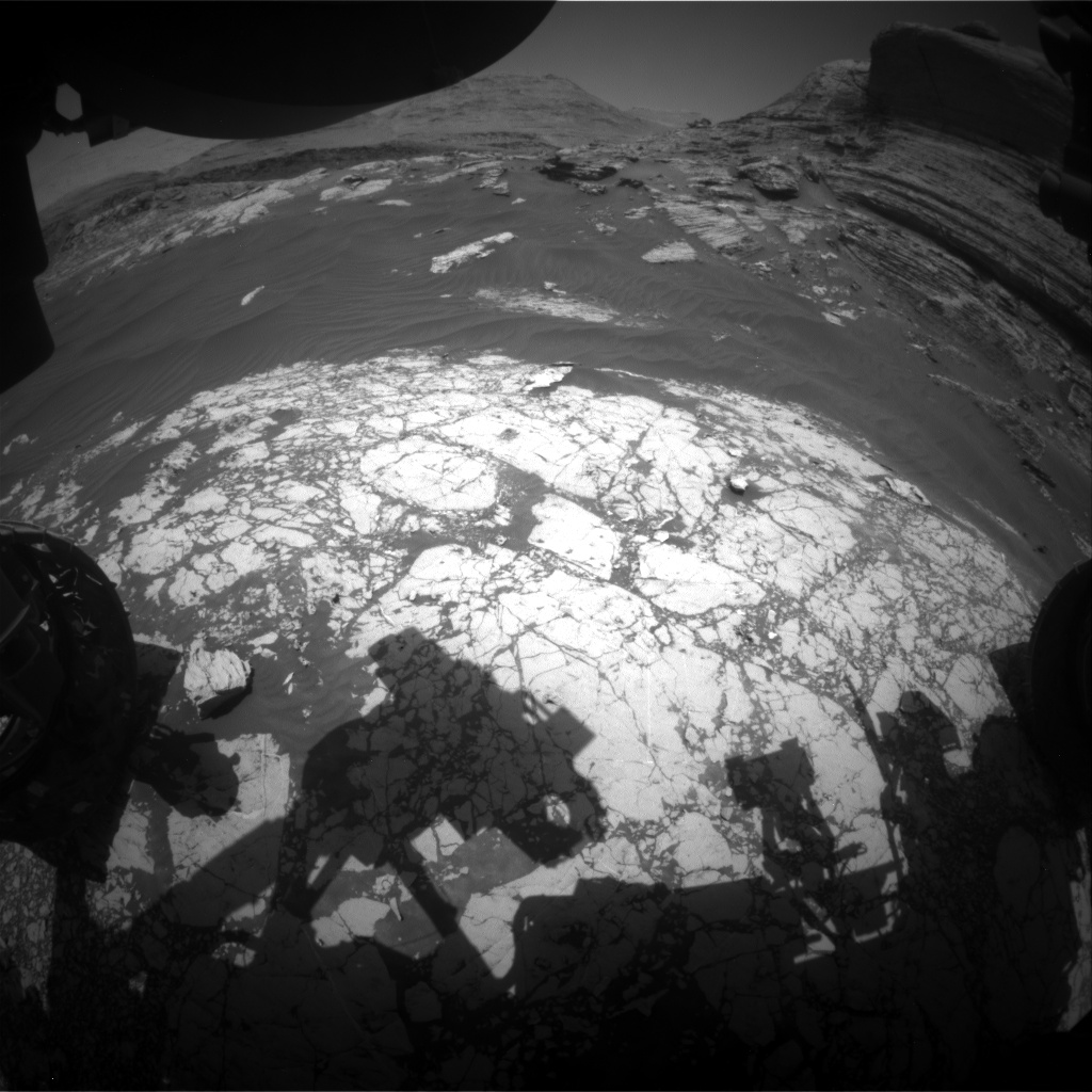 Nasa's Mars rover Curiosity acquired this image using its Front Hazard Avoidance Camera (Front Hazcam) on Sol 3057, at drive 792, site number 87