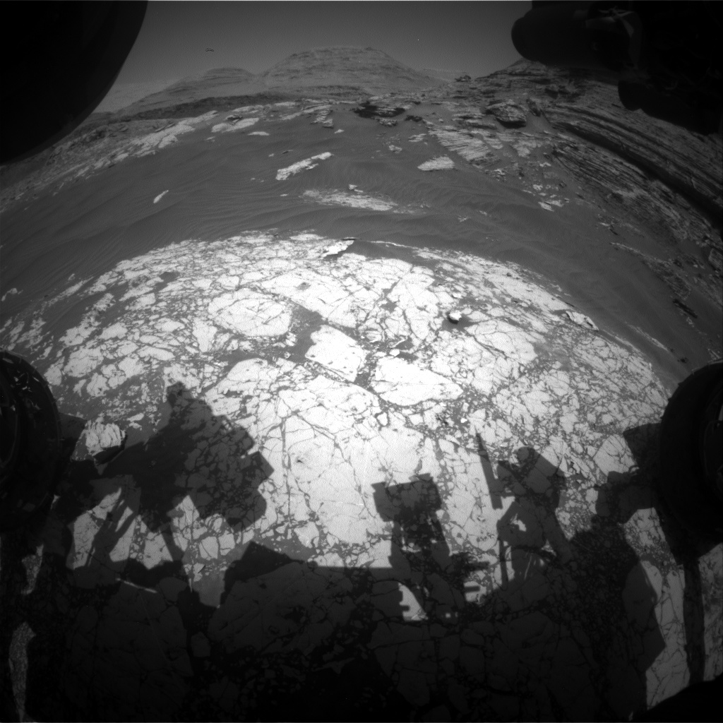 Nasa's Mars rover Curiosity acquired this image using its Front Hazard Avoidance Camera (Front Hazcam) on Sol 3059, at drive 792, site number 87