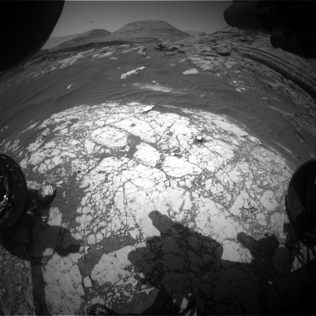 Nasa's Mars rover Curiosity acquired this image using its Front Hazard Avoidance Camera (Front Hazcam) on Sol 3060, at drive 792, site number 87