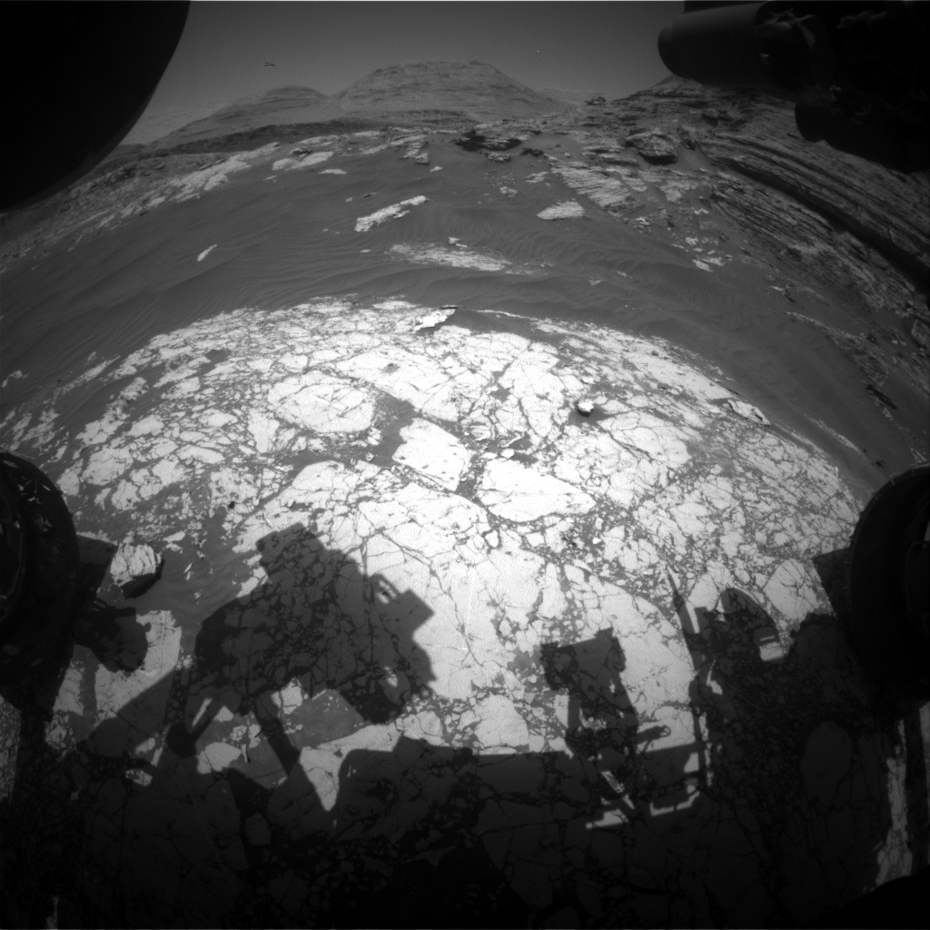 Nasa's Mars rover Curiosity acquired this image using its Front Hazard Avoidance Camera (Front Hazcam) on Sol 3062, at drive 792, site number 87