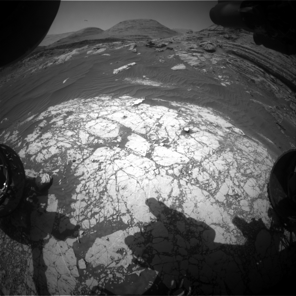 Nasa's Mars rover Curiosity acquired this image using its Front Hazard Avoidance Camera (Front Hazcam) on Sol 3063, at drive 792, site number 87