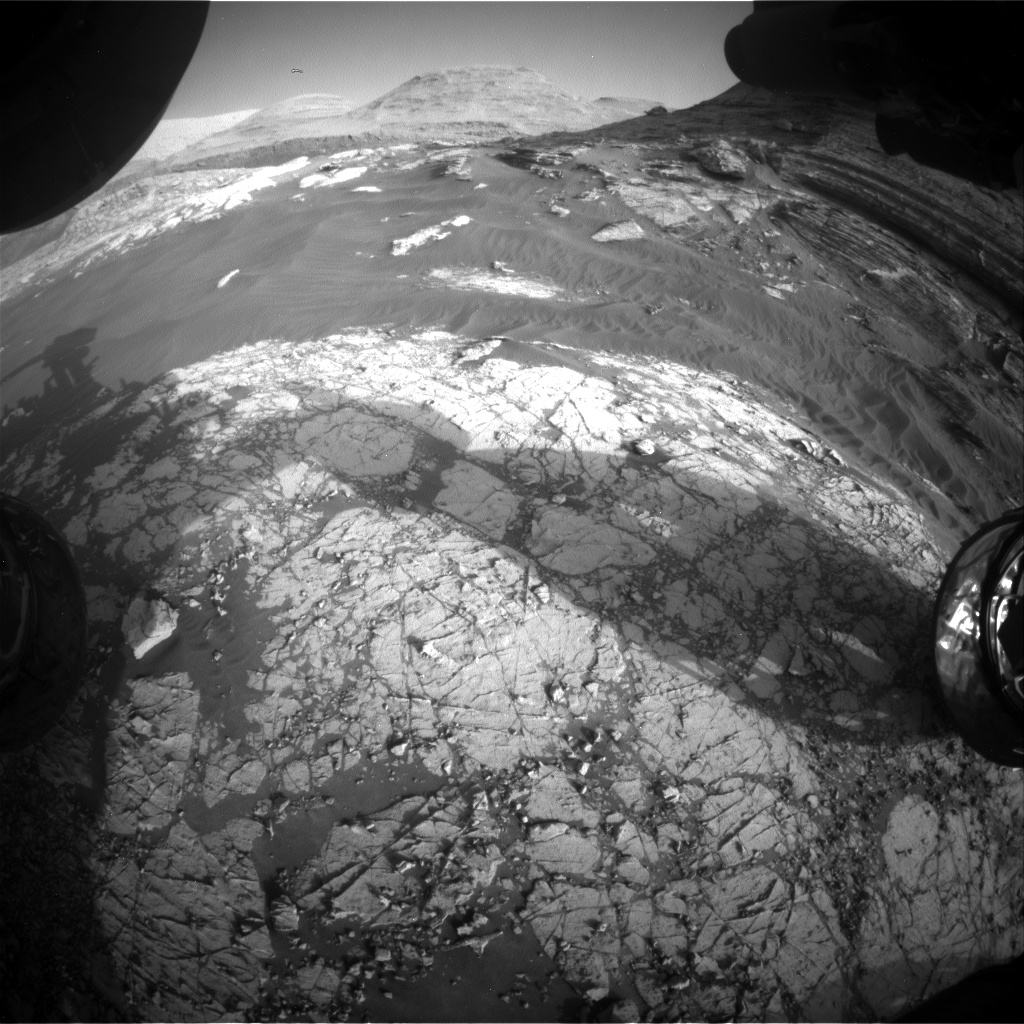 Nasa's Mars rover Curiosity acquired this image using its Front Hazard Avoidance Camera (Front Hazcam) on Sol 3066, at drive 792, site number 87
