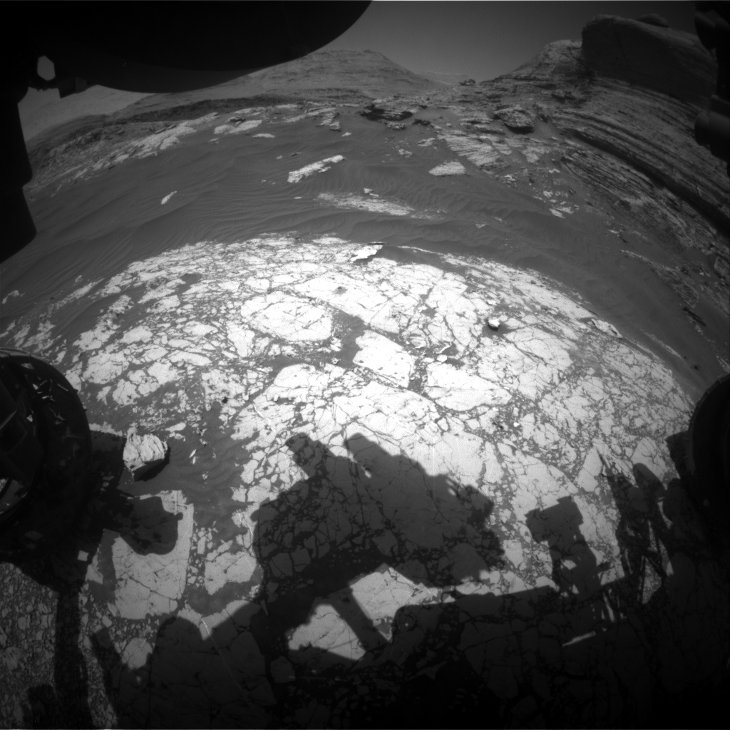 Nasa's Mars rover Curiosity acquired this image using its Front Hazard Avoidance Camera (Front Hazcam) on Sol 3067, at drive 792, site number 87