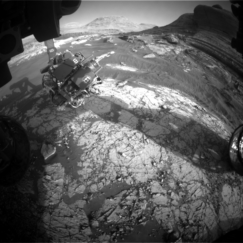 Nasa's Mars rover Curiosity acquired this image using its Front Hazard Avoidance Camera (Front Hazcam) on Sol 3068, at drive 792, site number 87