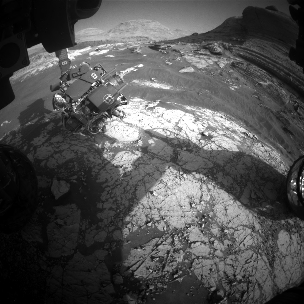 Nasa's Mars rover Curiosity acquired this image using its Front Hazard Avoidance Camera (Front Hazcam) on Sol 3069, at drive 792, site number 87