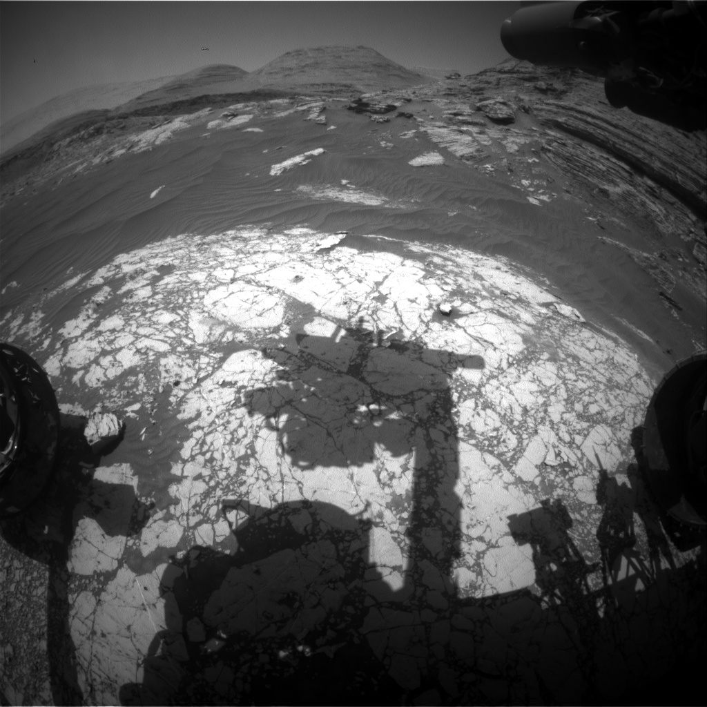 Nasa's Mars rover Curiosity acquired this image using its Front Hazard Avoidance Camera (Front Hazcam) on Sol 3070, at drive 792, site number 87