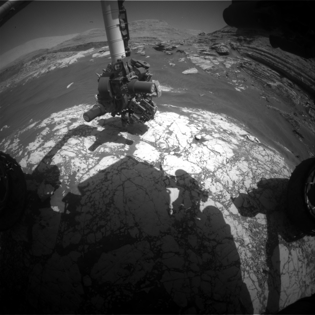 Nasa's Mars rover Curiosity acquired this image using its Front Hazard Avoidance Camera (Front Hazcam) on Sol 3071, at drive 792, site number 87