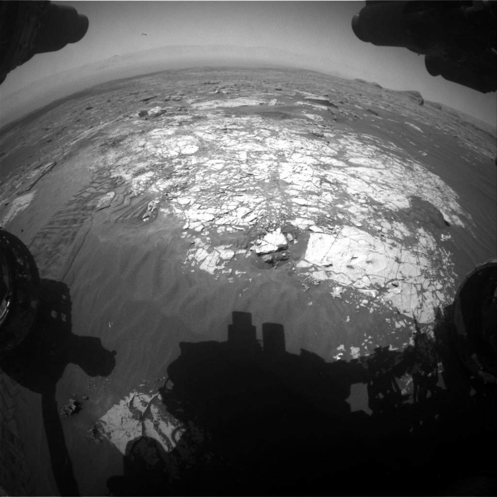 Nasa's Mars rover Curiosity acquired this image using its Front Hazard Avoidance Camera (Front Hazcam) on Sol 3072, at drive 834, site number 87