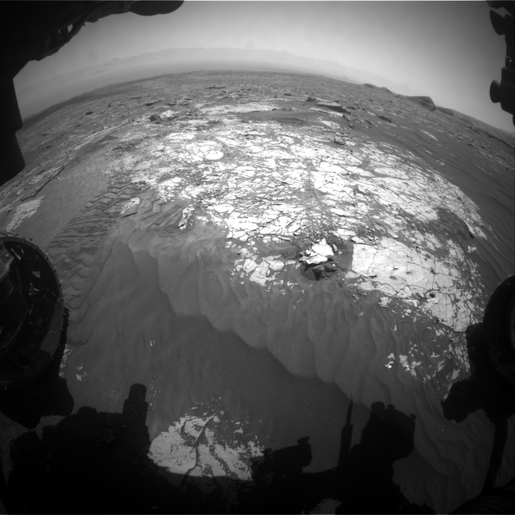 Nasa's Mars rover Curiosity acquired this image using its Front Hazard Avoidance Camera (Front Hazcam) on Sol 3073, at drive 834, site number 87