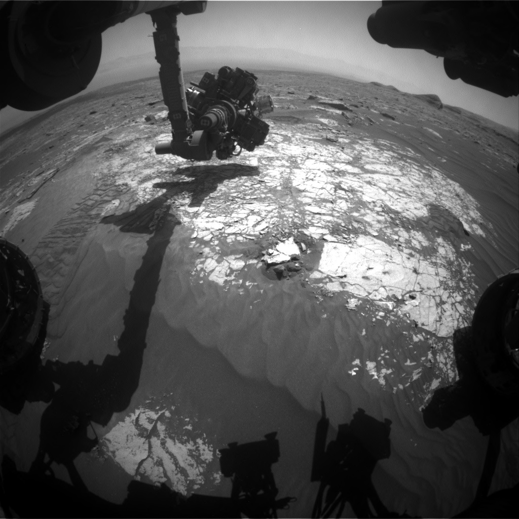 Nasa's Mars rover Curiosity acquired this image using its Front Hazard Avoidance Camera (Front Hazcam) on Sol 3074, at drive 834, site number 87