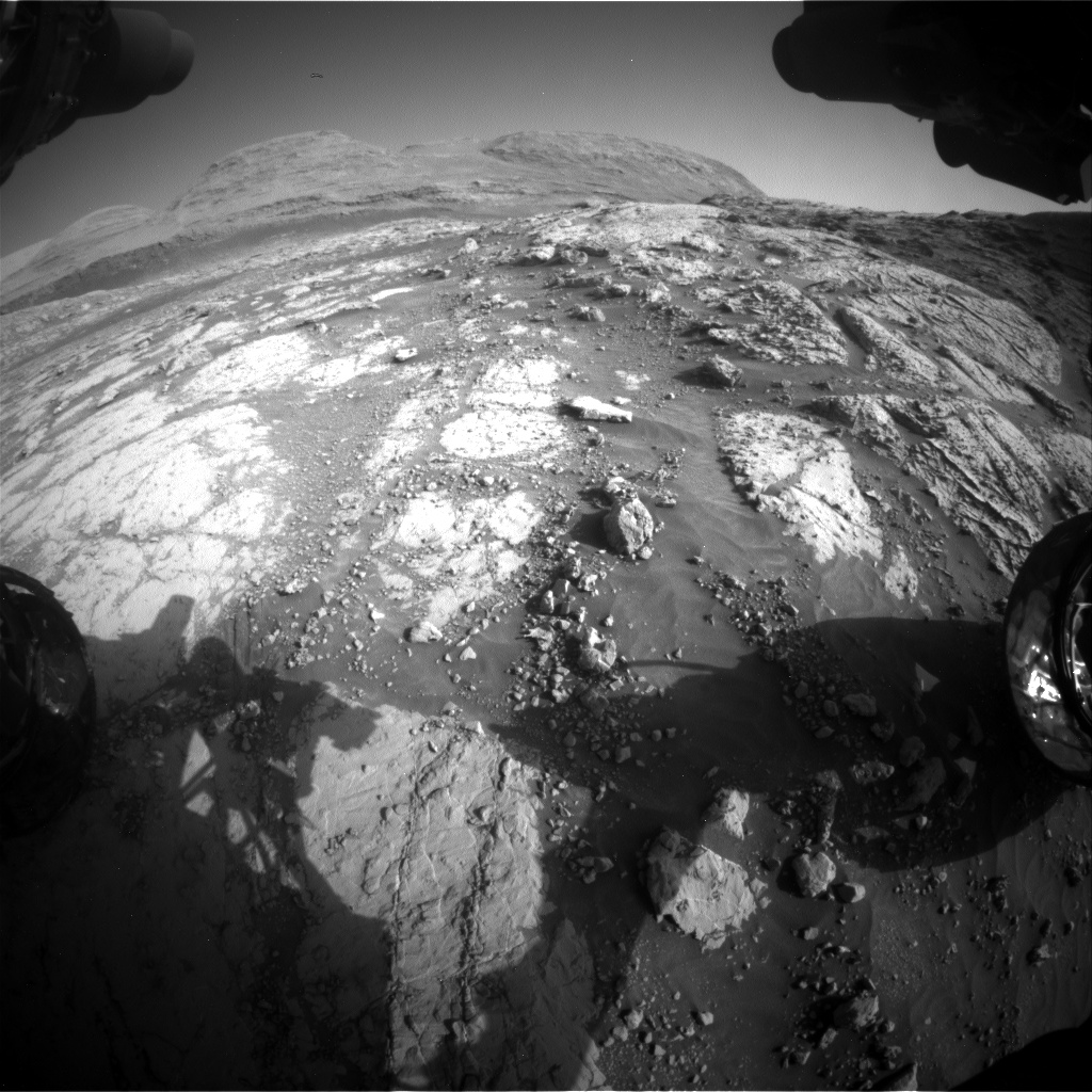 Nasa's Mars rover Curiosity acquired this image using its Front Hazard Avoidance Camera (Front Hazcam) on Sol 3074, at drive 1078, site number 87