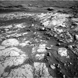 Nasa's Mars rover Curiosity acquired this image using its Left Navigation Camera on Sol 3074, at drive 1050, site number 87