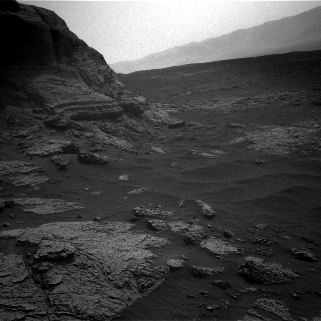 Nasa's Mars rover Curiosity acquired this image using its Left Navigation Camera on Sol 3074, at drive 1078, site number 87