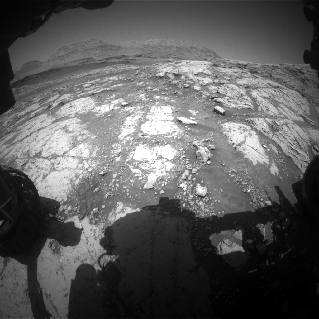 Nasa's Mars rover Curiosity acquired this image using its Front Hazard Avoidance Camera (Front Hazcam) on Sol 3075, at drive 1078, site number 87