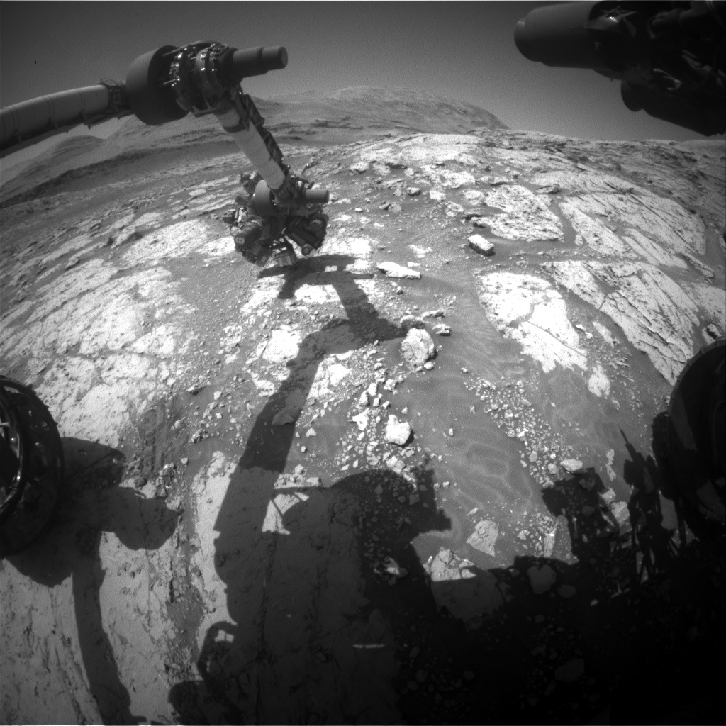 Nasa's Mars rover Curiosity acquired this image using its Front Hazard Avoidance Camera (Front Hazcam) on Sol 3076, at drive 1078, site number 87