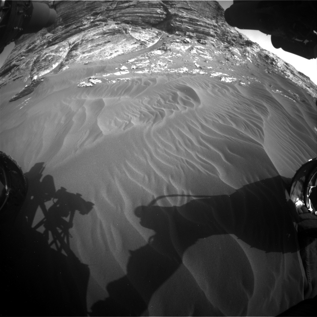 Nasa's Mars rover Curiosity acquired this image using its Front Hazard Avoidance Camera (Front Hazcam) on Sol 3076, at drive 1444, site number 87