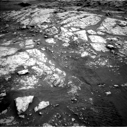 Nasa's Mars rover Curiosity acquired this image using its Left Navigation Camera on Sol 3076, at drive 1120, site number 87
