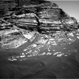 Nasa's Mars rover Curiosity acquired this image using its Left Navigation Camera on Sol 3076, at drive 1408, site number 87