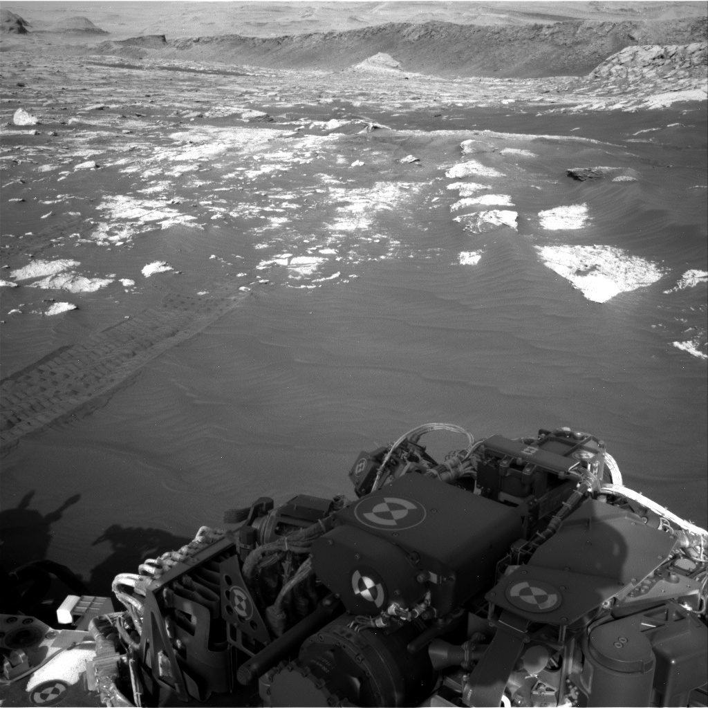 Nasa's Mars rover Curiosity acquired this image using its Right Navigation Camera on Sol 3076, at drive 1444, site number 87