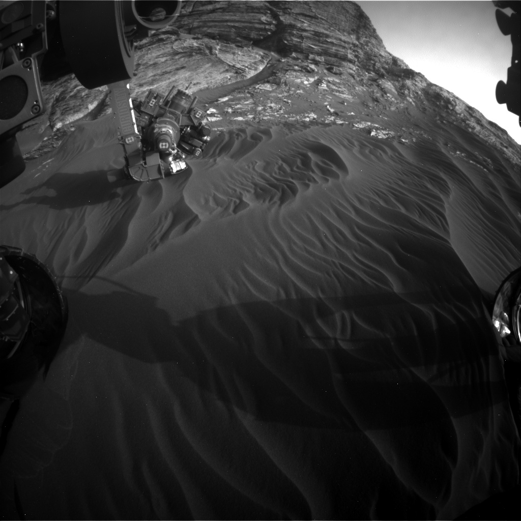 Nasa's Mars rover Curiosity acquired this image using its Front Hazard Avoidance Camera (Front Hazcam) on Sol 3078, at drive 1444, site number 87