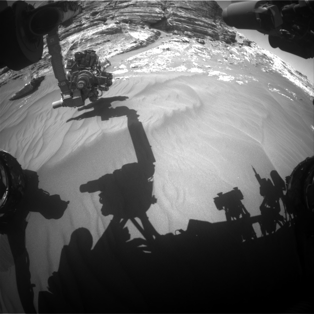 Nasa's Mars rover Curiosity acquired this image using its Front Hazard Avoidance Camera (Front Hazcam) on Sol 3079, at drive 1444, site number 87