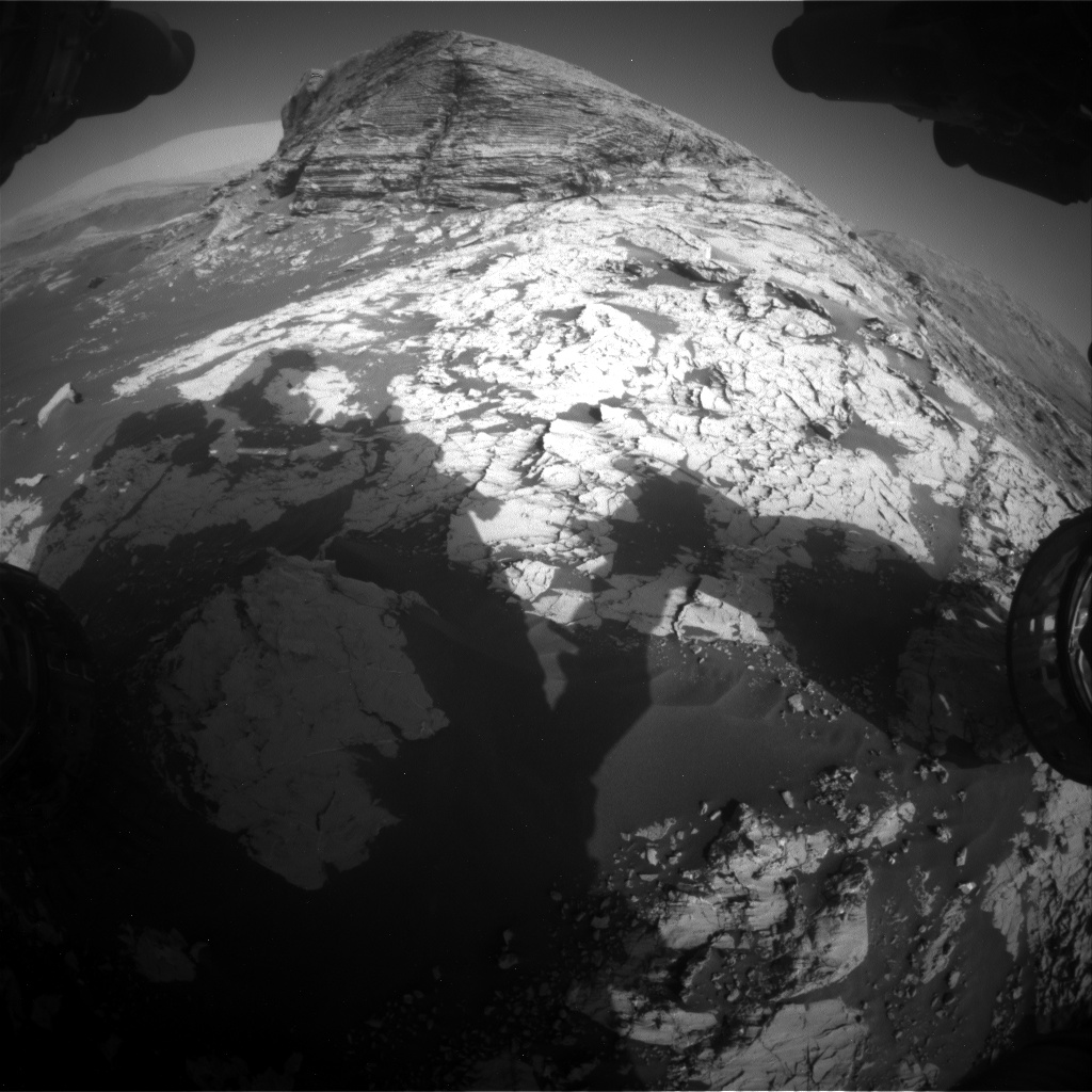 Nasa's Mars rover Curiosity acquired this image using its Front Hazard Avoidance Camera (Front Hazcam) on Sol 3079, at drive 1712, site number 87