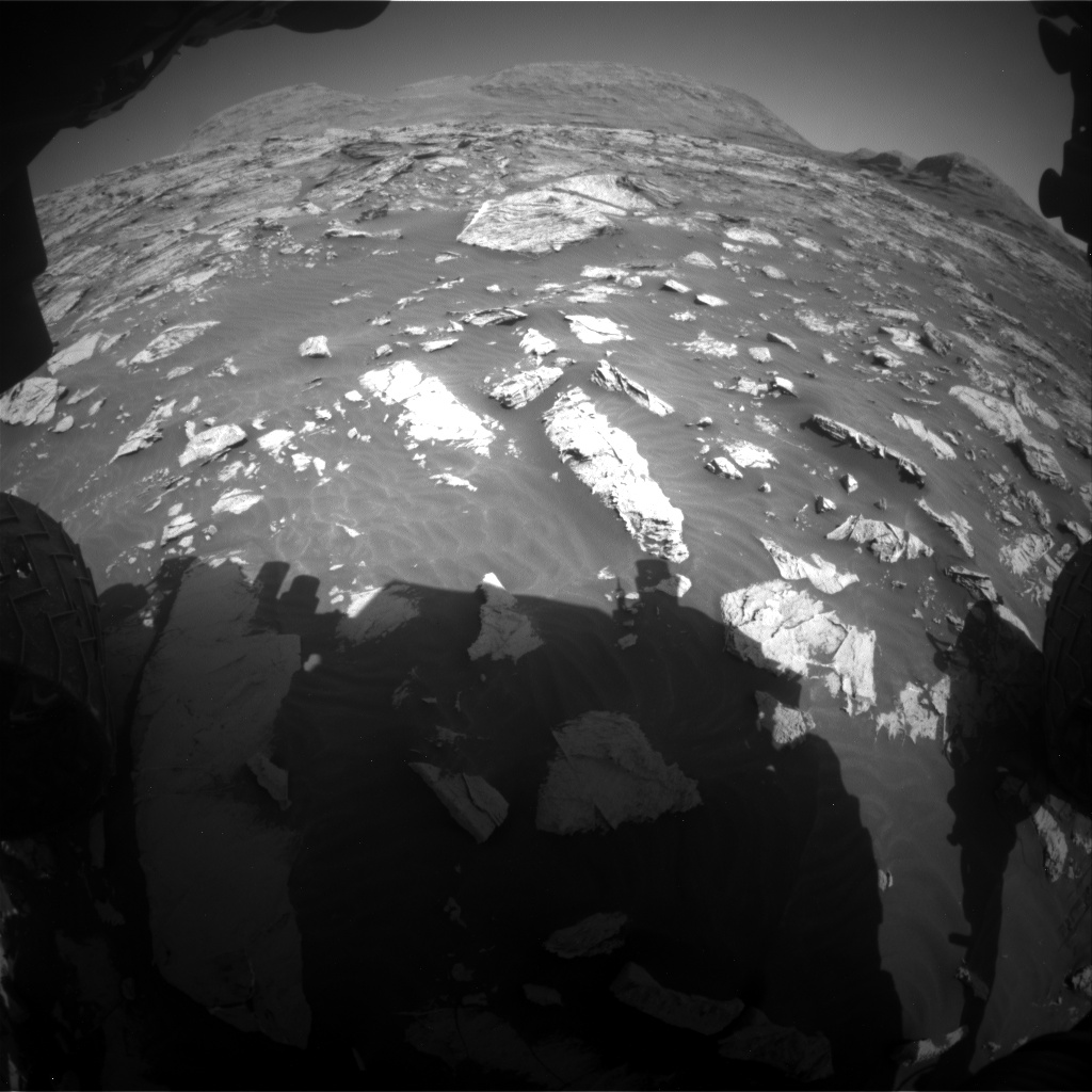 Nasa's Mars rover Curiosity acquired this image using its Front Hazard Avoidance Camera (Front Hazcam) on Sol 3081, at drive 1916, site number 87
