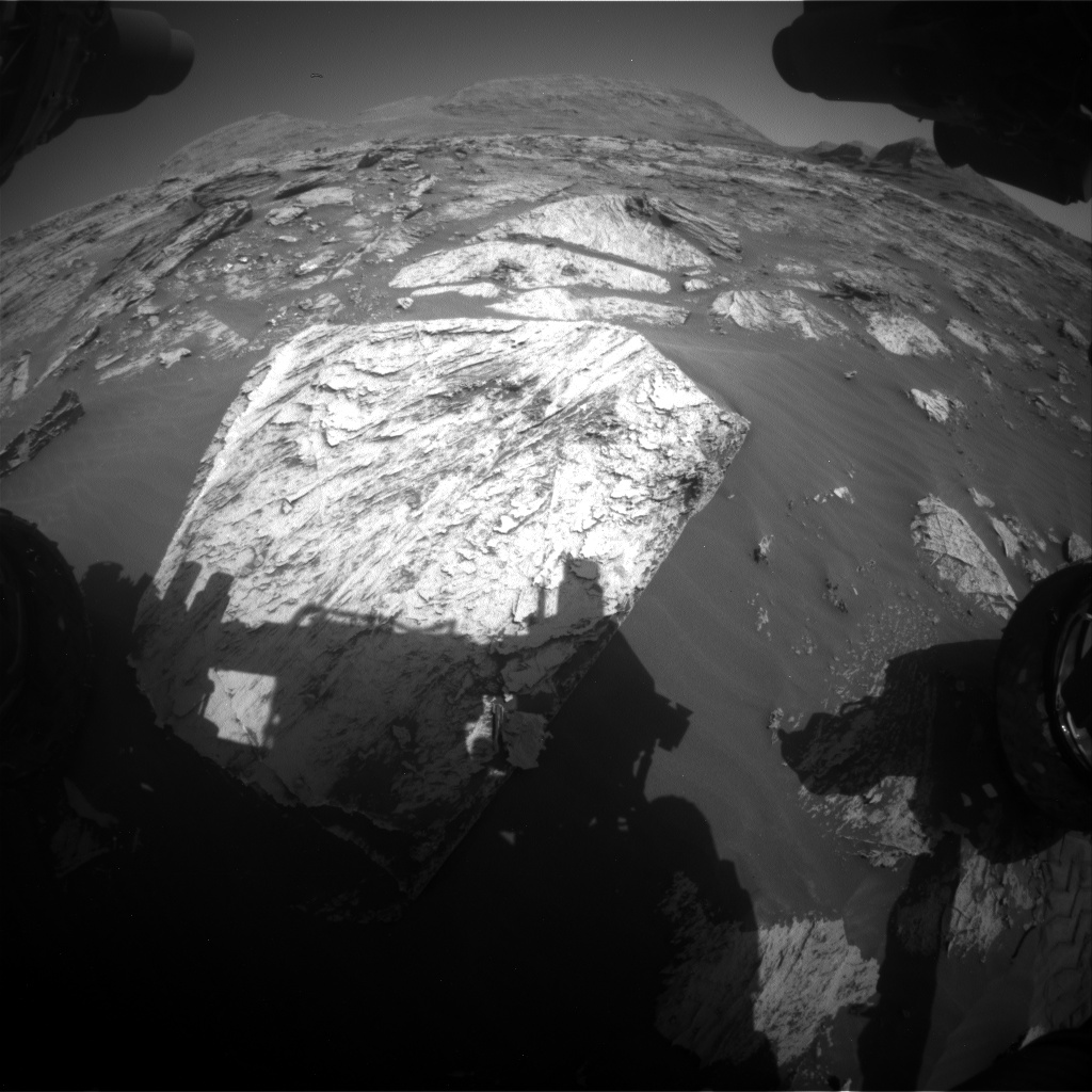 Nasa's Mars rover Curiosity acquired this image using its Front Hazard Avoidance Camera (Front Hazcam) on Sol 3081, at drive 1958, site number 87
