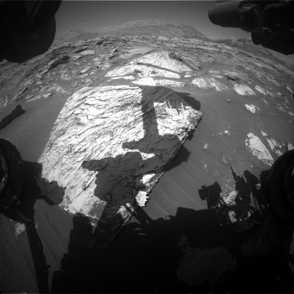 Nasa's Mars rover Curiosity acquired this image using its Front Hazard Avoidance Camera (Front Hazcam) on Sol 3082, at drive 1958, site number 87