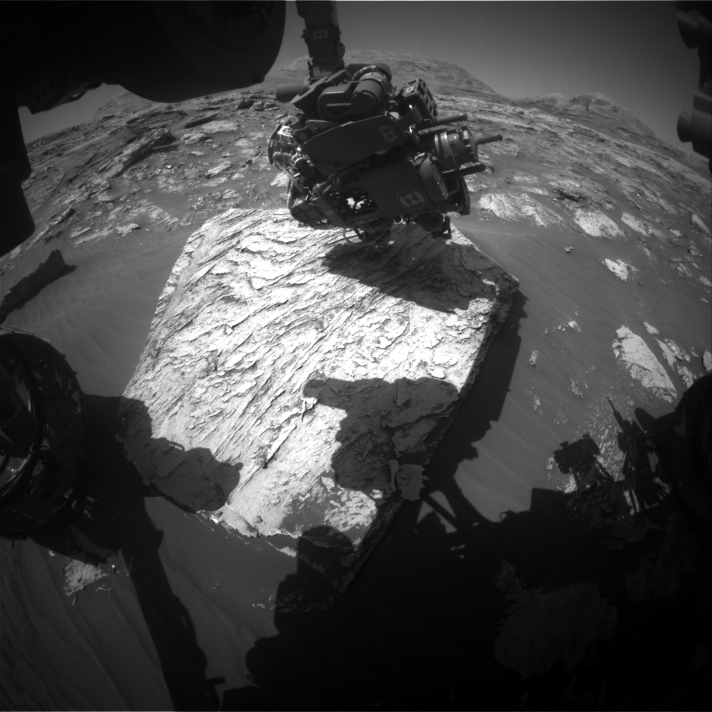 Nasa's Mars rover Curiosity acquired this image using its Front Hazard Avoidance Camera (Front Hazcam) on Sol 3083, at drive 1958, site number 87