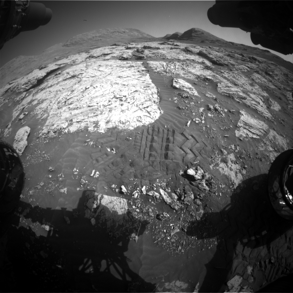 Nasa's Mars rover Curiosity acquired this image using its Front Hazard Avoidance Camera (Front Hazcam) on Sol 3083, at drive 2214, site number 87