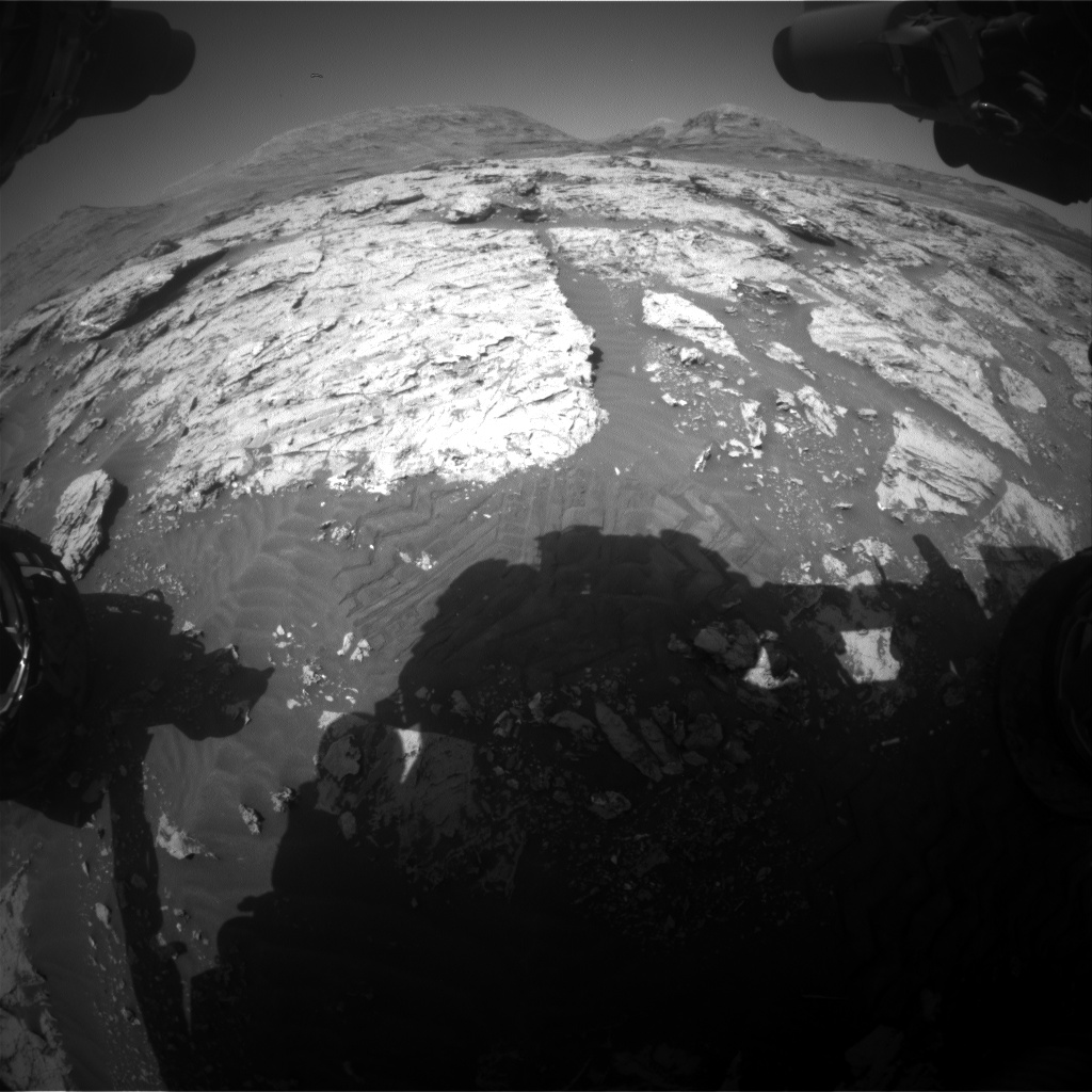 Nasa's Mars rover Curiosity acquired this image using its Front Hazard Avoidance Camera (Front Hazcam) on Sol 3084, at drive 2214, site number 87