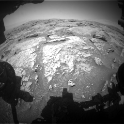 Nasa's Mars rover Curiosity acquired this image using its Front Hazard Avoidance Camera (Front Hazcam) on Sol 3086, at drive 2442, site number 87