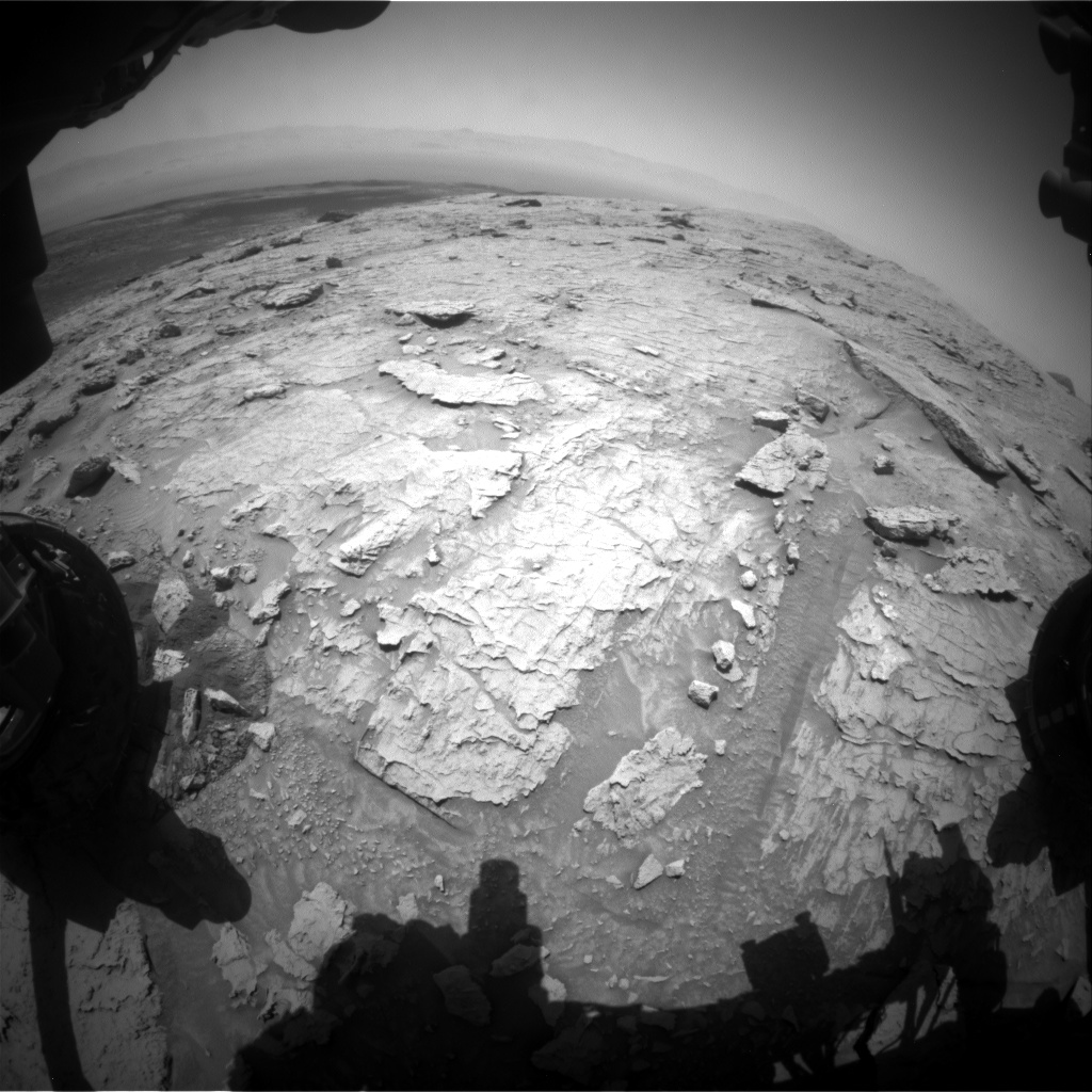 Nasa's Mars rover Curiosity acquired this image using its Front Hazard Avoidance Camera (Front Hazcam) on Sol 3086, at drive 2536, site number 87