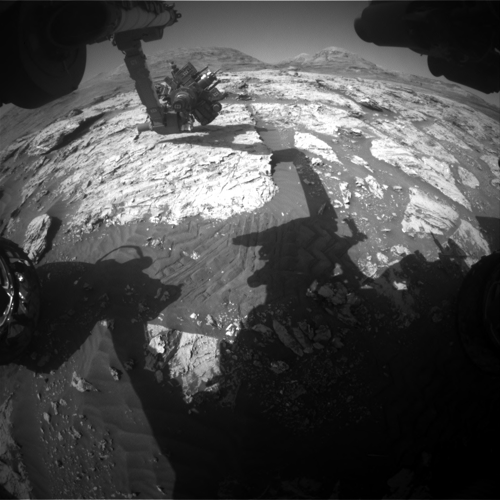 Nasa's Mars rover Curiosity acquired this image using its Front Hazard Avoidance Camera (Front Hazcam) on Sol 3086, at drive 2214, site number 87