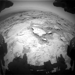 Nasa's Mars rover Curiosity acquired this image using its Front Hazard Avoidance Camera (Front Hazcam) on Sol 3086, at drive 2502, site number 87