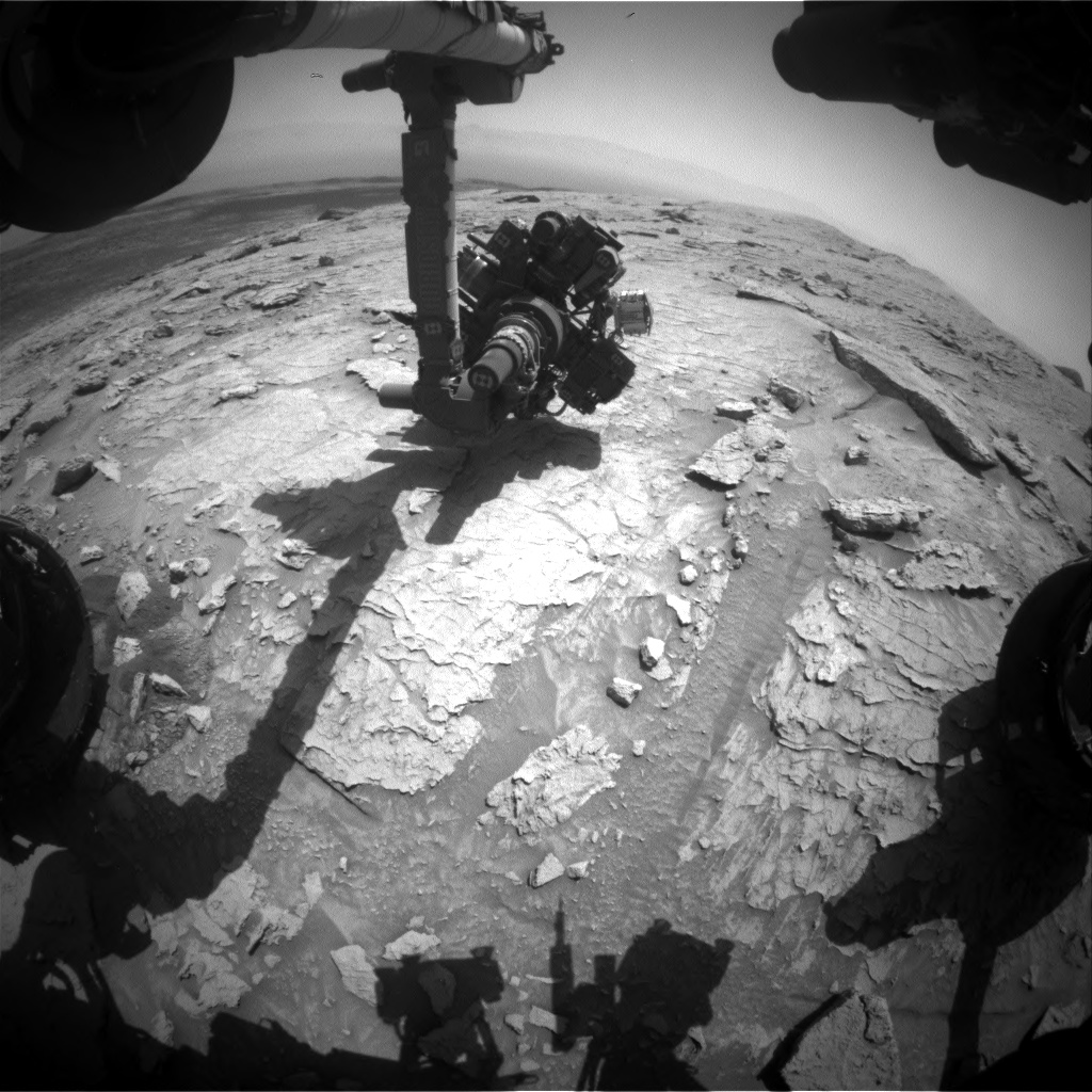 Nasa's Mars rover Curiosity acquired this image using its Front Hazard Avoidance Camera (Front Hazcam) on Sol 3088, at drive 2536, site number 87