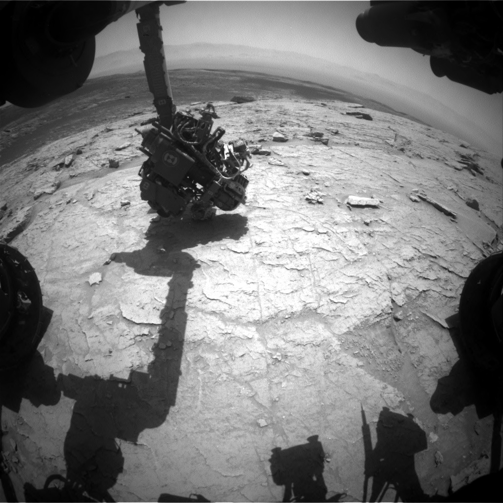 Nasa's Mars rover Curiosity acquired this image using its Front Hazard Avoidance Camera (Front Hazcam) on Sol 3090, at drive 2578, site number 87