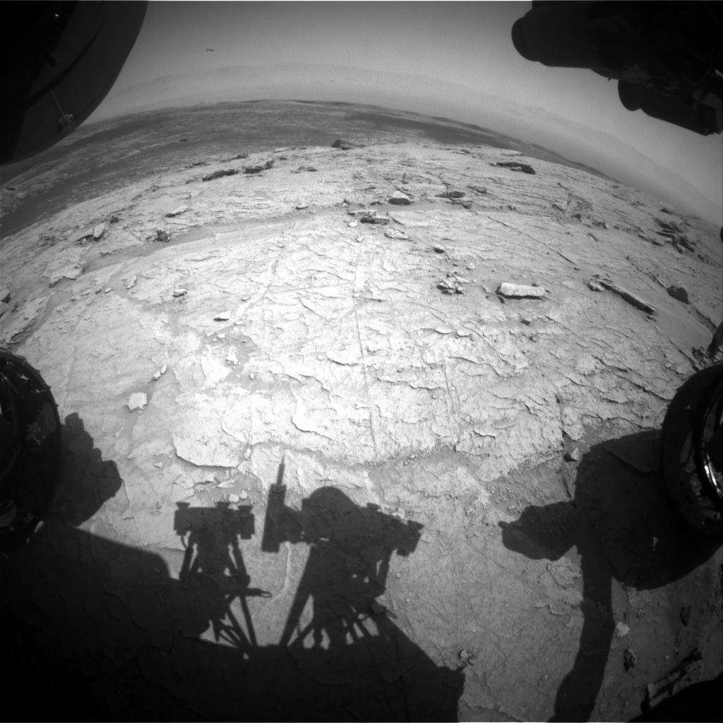 Nasa's Mars rover Curiosity acquired this image using its Front Hazard Avoidance Camera (Front Hazcam) on Sol 3093, at drive 2578, site number 87