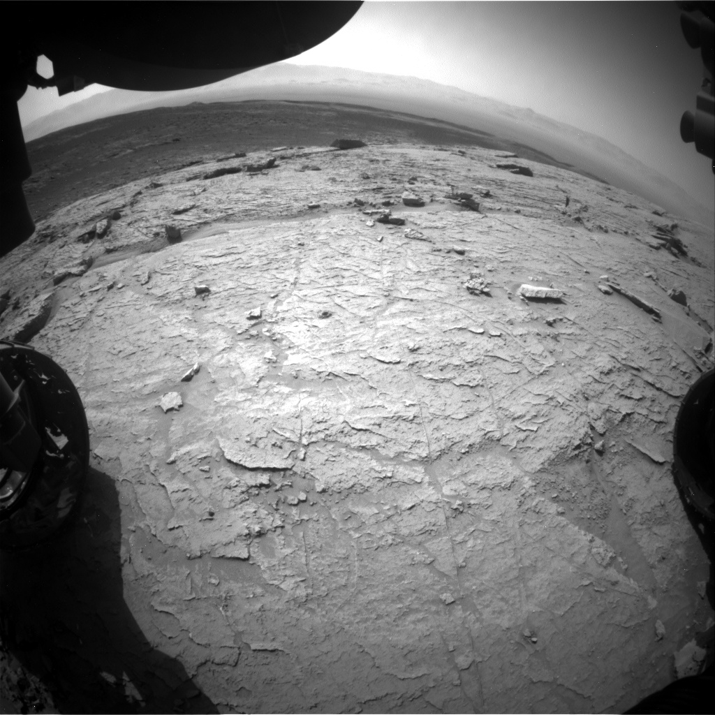 Nasa's Mars rover Curiosity acquired this image using its Front Hazard Avoidance Camera (Front Hazcam) on Sol 3101, at drive 2578, site number 87