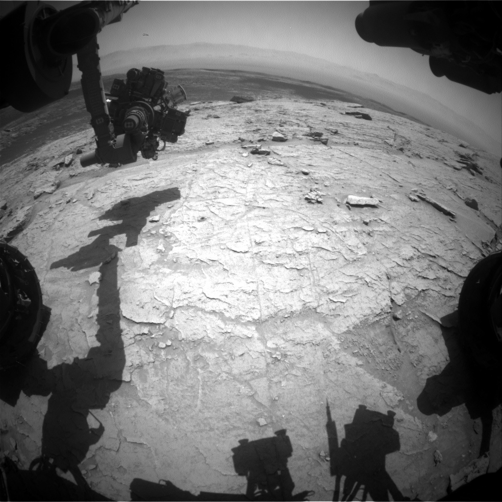 Nasa's Mars rover Curiosity acquired this image using its Front Hazard Avoidance Camera (Front Hazcam) on Sol 3103, at drive 2578, site number 87