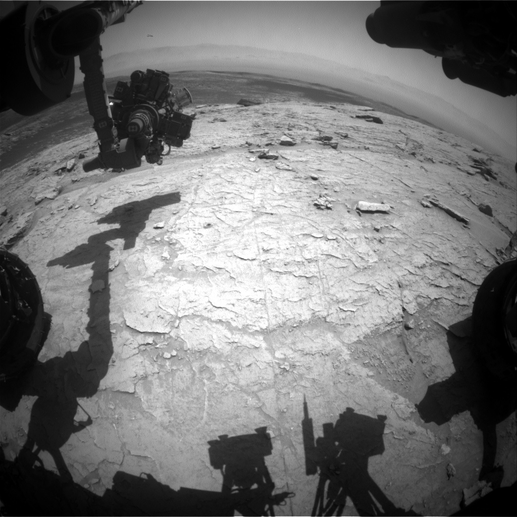Nasa's Mars rover Curiosity acquired this image using its Front Hazard Avoidance Camera (Front Hazcam) on Sol 3104, at drive 2578, site number 87