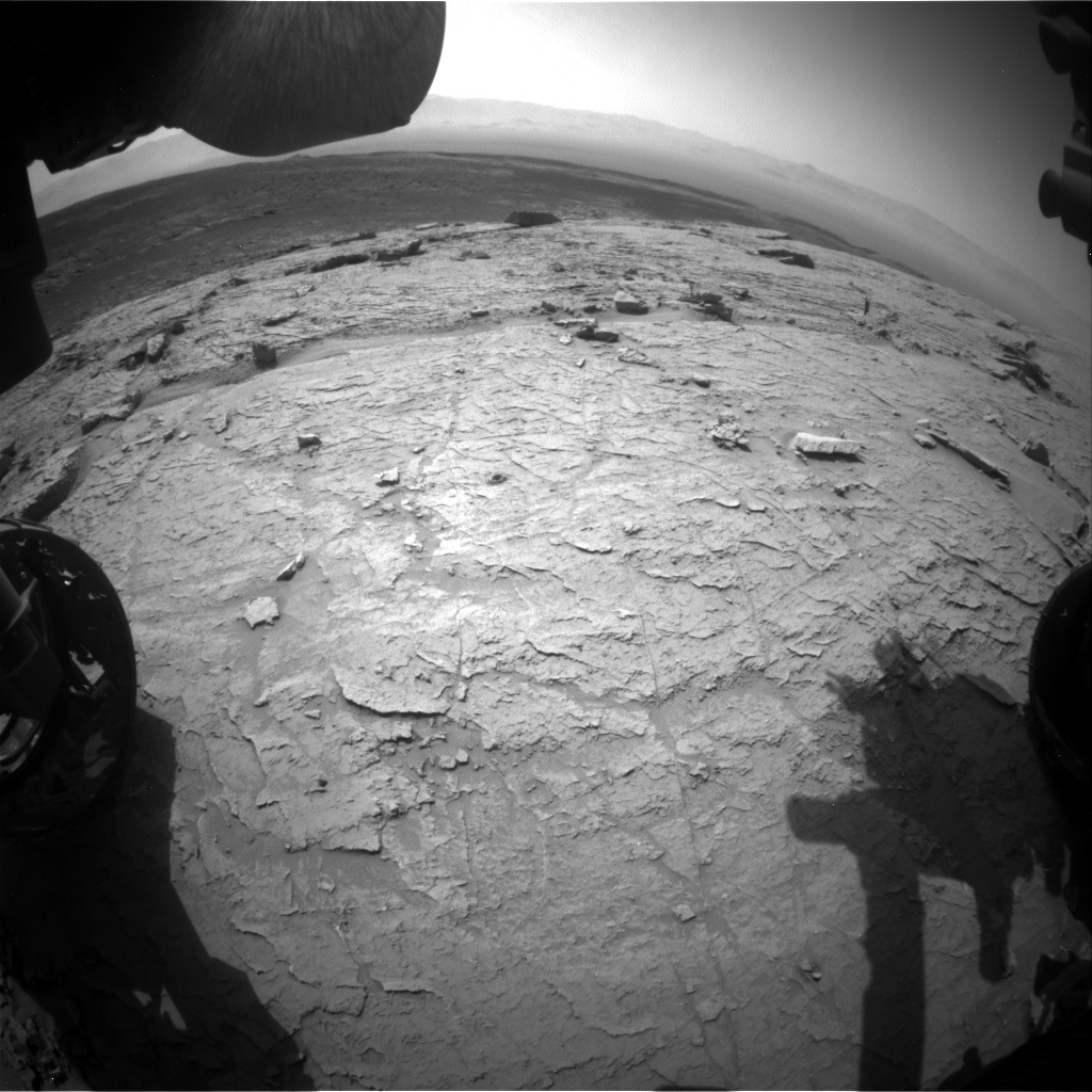 Nasa's Mars rover Curiosity acquired this image using its Front Hazard Avoidance Camera (Front Hazcam) on Sol 3105, at drive 2578, site number 87