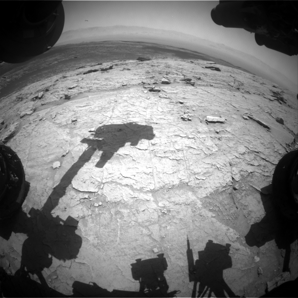 Nasa's Mars rover Curiosity acquired this image using its Front Hazard Avoidance Camera (Front Hazcam) on Sol 3107, at drive 2578, site number 87