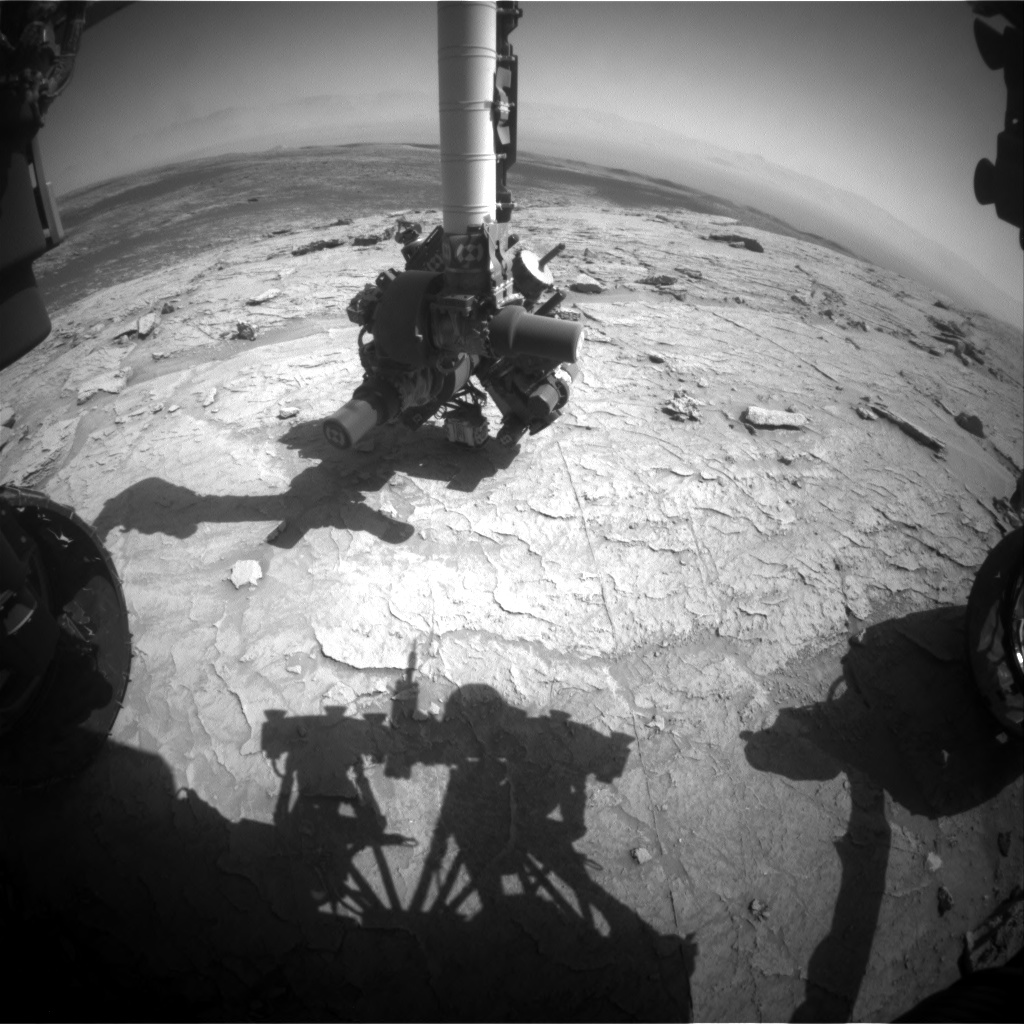 Nasa's Mars rover Curiosity acquired this image using its Front Hazard Avoidance Camera (Front Hazcam) on Sol 3109, at drive 2578, site number 87