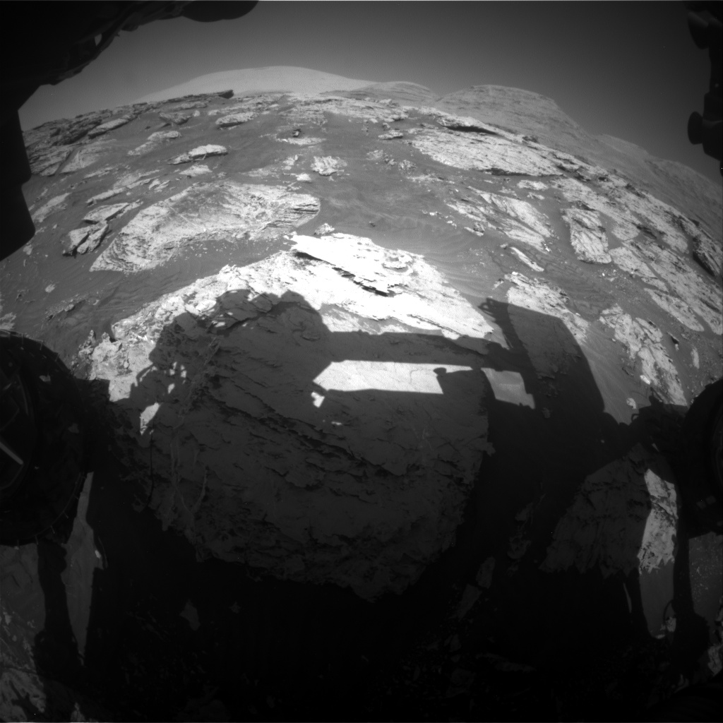 Nasa's Mars rover Curiosity acquired this image using its Front Hazard Avoidance Camera (Front Hazcam) on Sol 3109, at drive 2896, site number 87