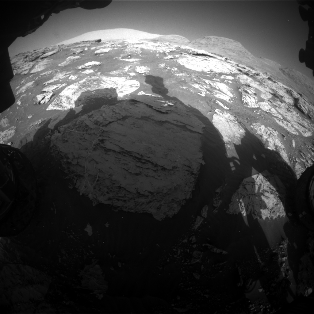 Nasa's Mars rover Curiosity acquired this image using its Front Hazard Avoidance Camera (Front Hazcam) on Sol 3110, at drive 2902, site number 87