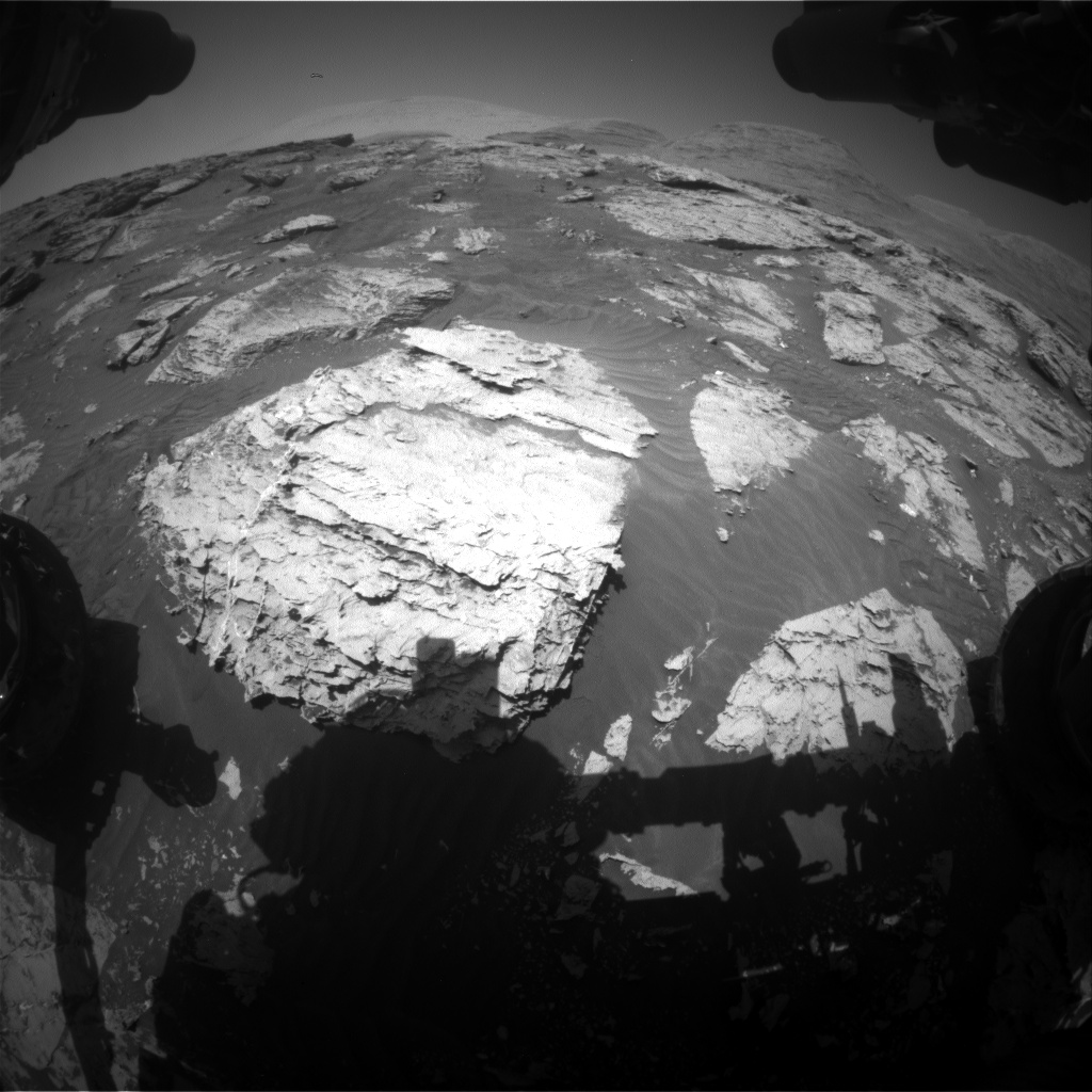 Nasa's Mars rover Curiosity acquired this image using its Front Hazard Avoidance Camera (Front Hazcam) on Sol 3111, at drive 2902, site number 87